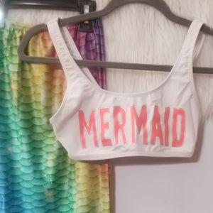 Mermaid outfit with monofin